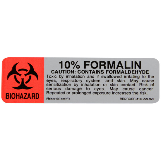 Picture of 10% Formalin Label