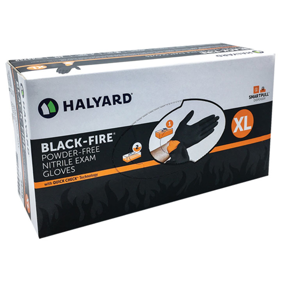 Picture of Black-Fire 5.5 mil Nitrile Gloves