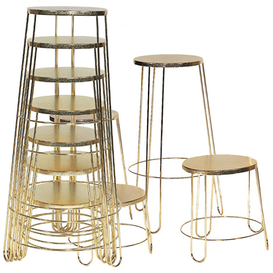 Picture of Basket Stands (Round Brass-Plated)