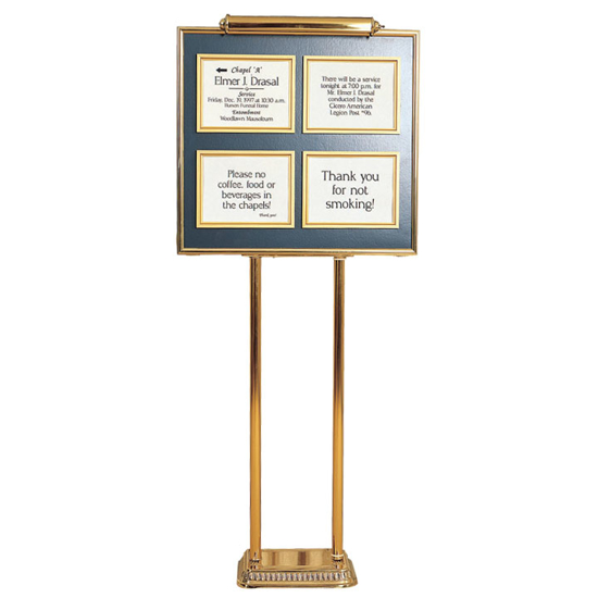 Picture of Four Listing Dual Pedestal Directory