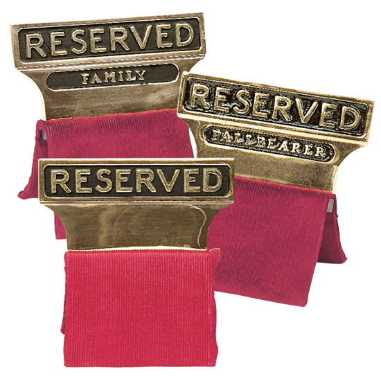 Picture of Reserved Seat Signs (Gold)