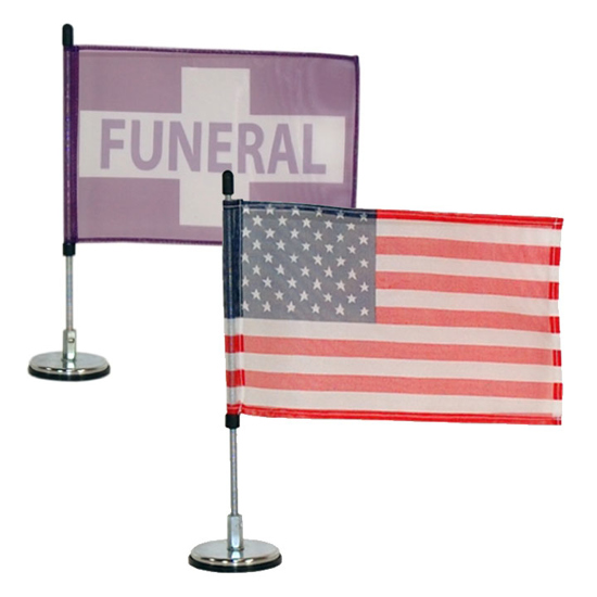 Picture of Fix-A-Post Magnetic Funeral Flags & Banners