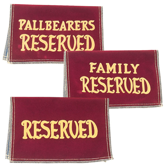 Picture of Reserved Seating Signs (Velvet)