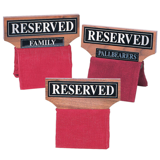Picture of Reserved Seat Signs (Wood)