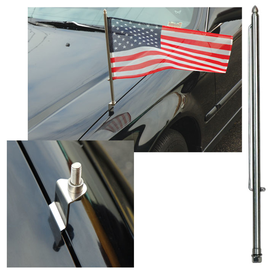 Picture of Stainless Steel Flag Staff & Pin Set