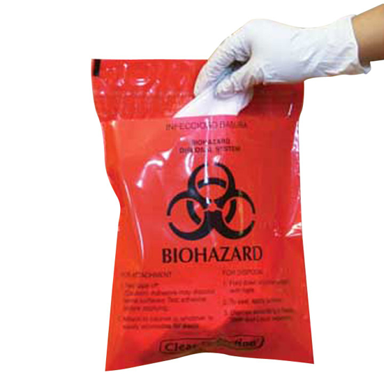 Picture of Stick-On Red Hazardous Waste Bag