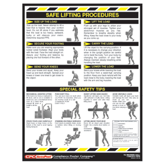 Picture of Safe Lifting Poster