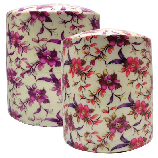 Picture of Floral Hydro-Graphic Urn/Vault Combination