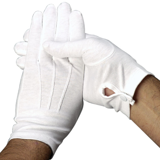 Picture of White Pallbearer Gloves (Full Fashion Snap-Wrist)