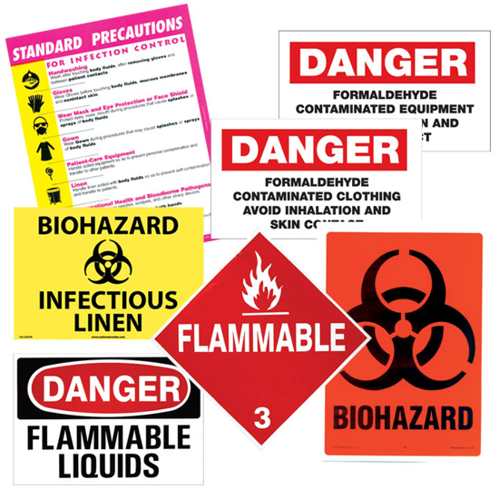 Picture of Prep Room Signs (Hazards)
