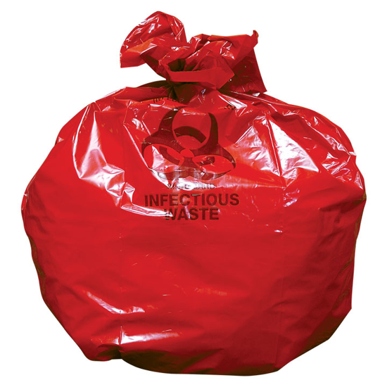 Picture of Red Hazardous Waste Bags