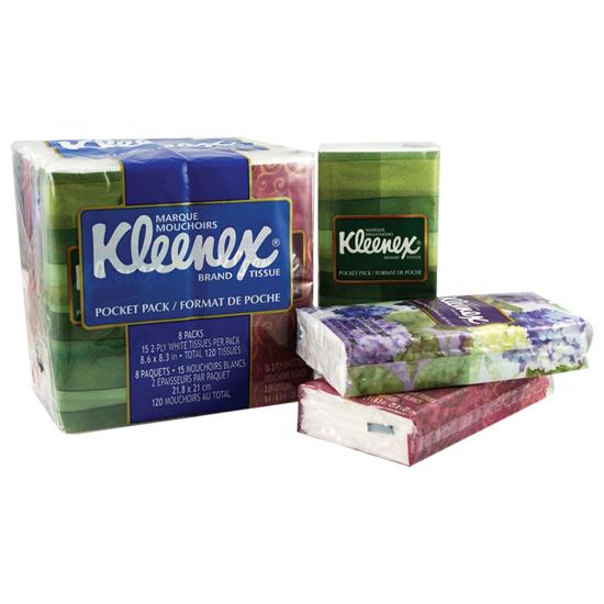 Picture of Kleenex® Pocket Packs, White, 3-Ply (HB)
