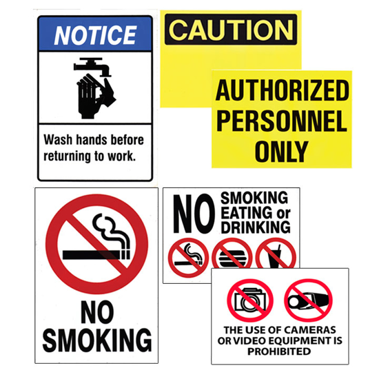 Picture of Prep Room Signs (Sanitary & Cautions)