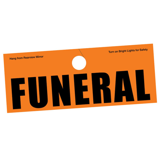 Picture of Auto Hanger Funeral Tag