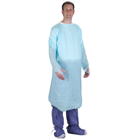 Picture of Poly Thumbhole Gown (Tapered Wrists)