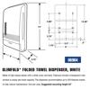 Picture of Slimfold Towel Dispenser, White